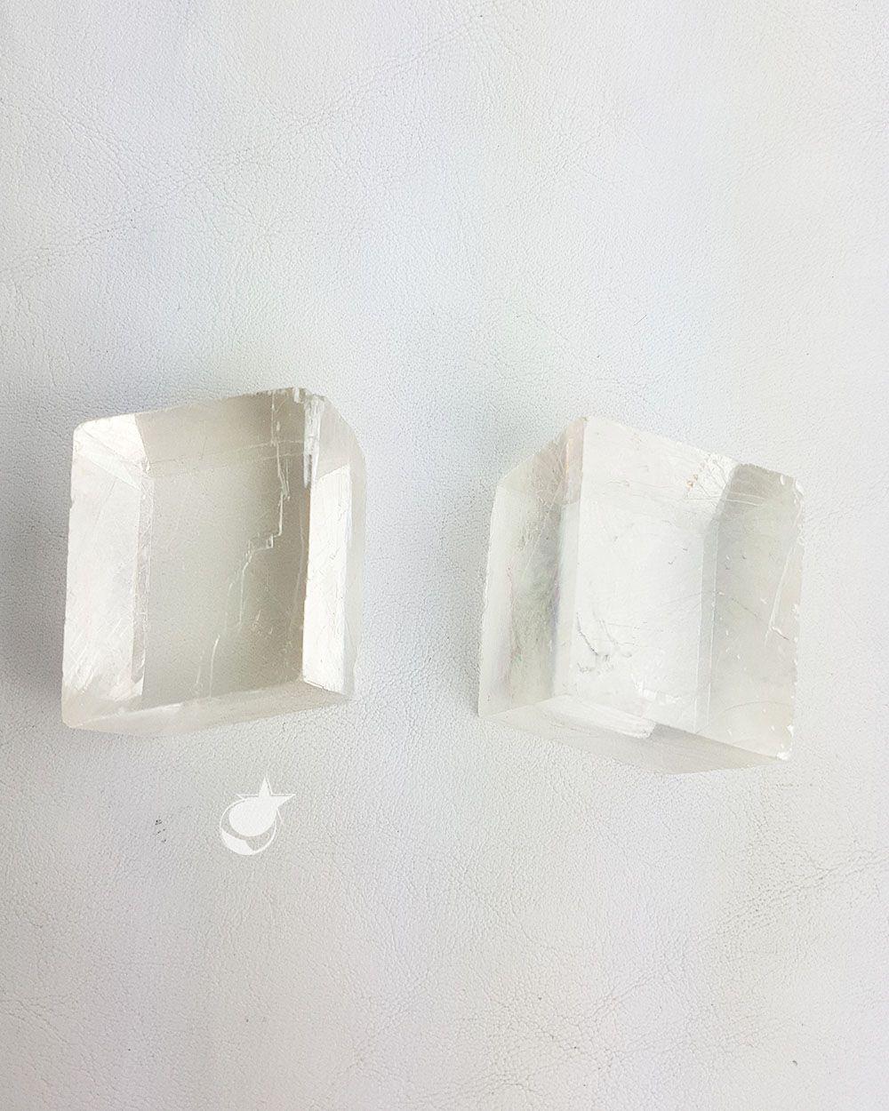 CALCITA ÓTICA BRANCA BRUTA - UNIDADE - 3,6 a 4 cm