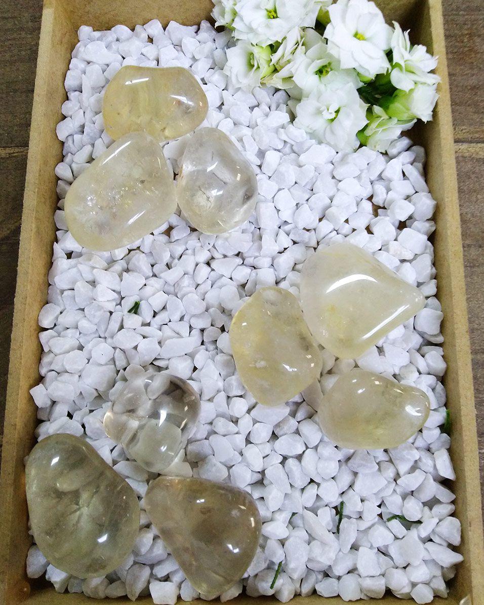 CITRINO NATURAL ROLADO  - PACOTE COM 30g - (2 a 3 pedras)