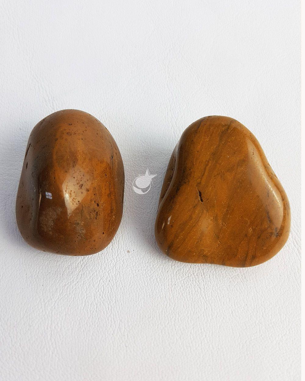 JASPE AMARELO ROLADO  - PACOTE 50g (2 pedras)