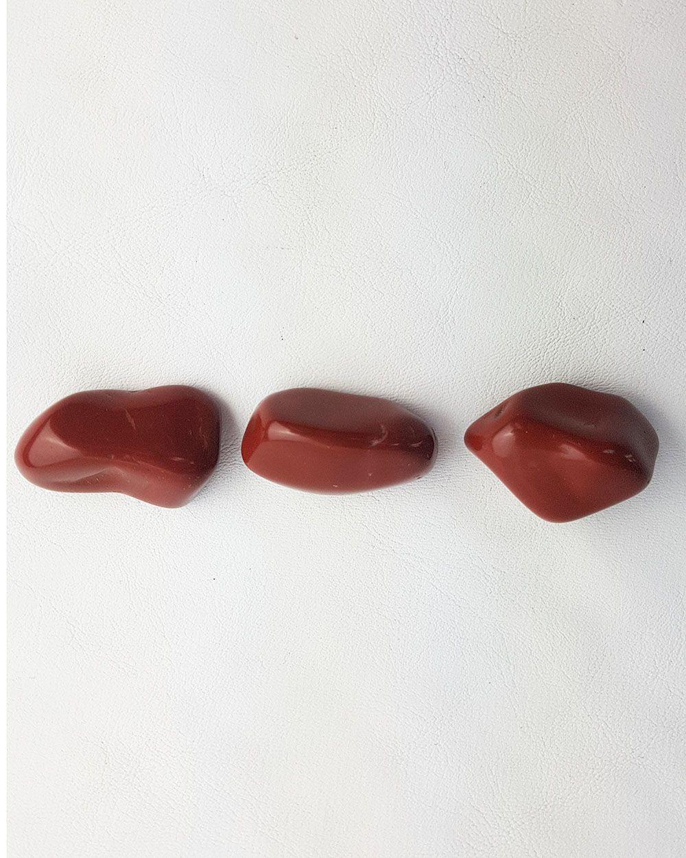 JASPE VERMELHO ROLADO - UNIDADE -  2,8 a 3 cm (11 a 15g)
