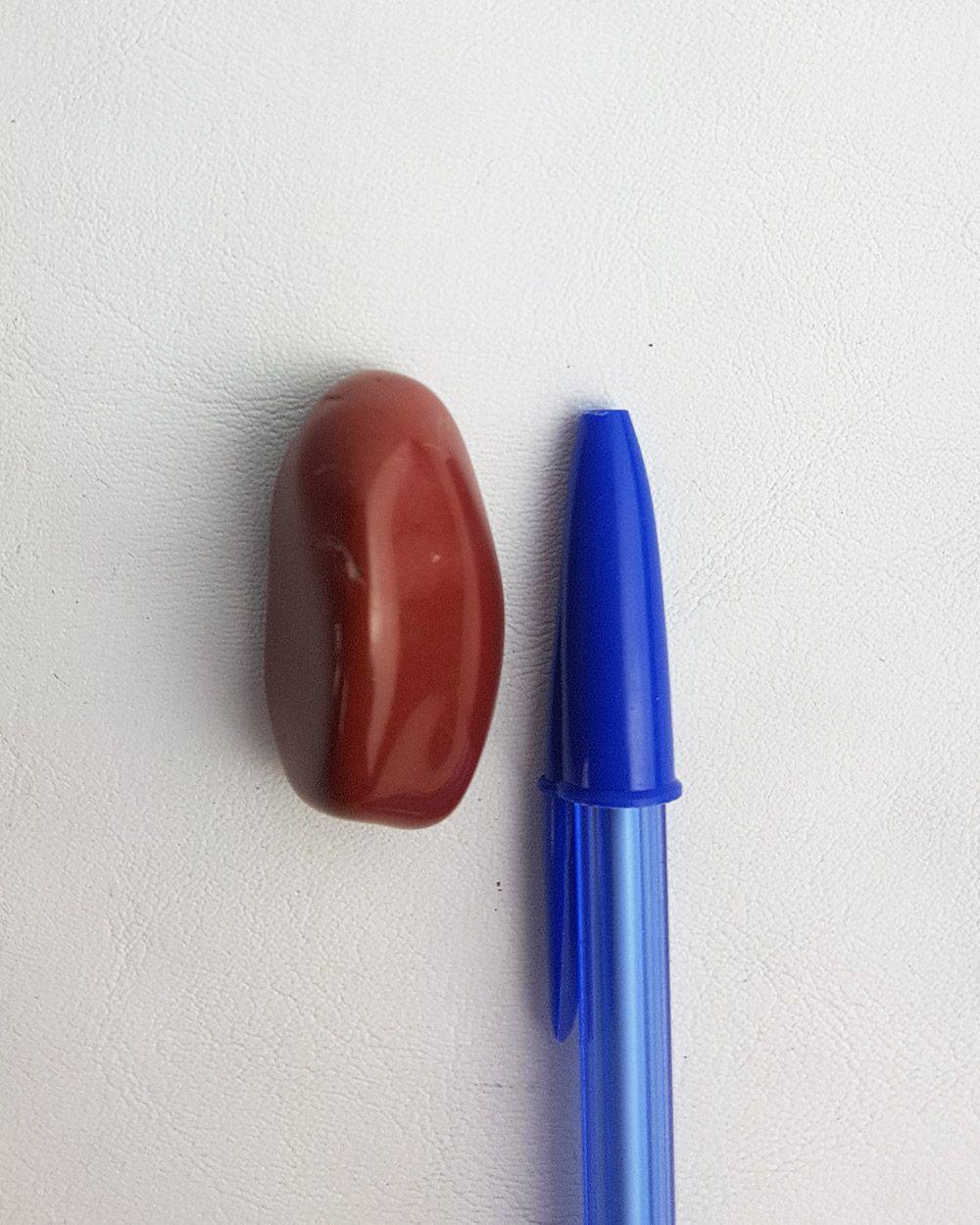 JASPE VERMELHO ROLADO - UNIDADE - Média 2,8 a 3 cm