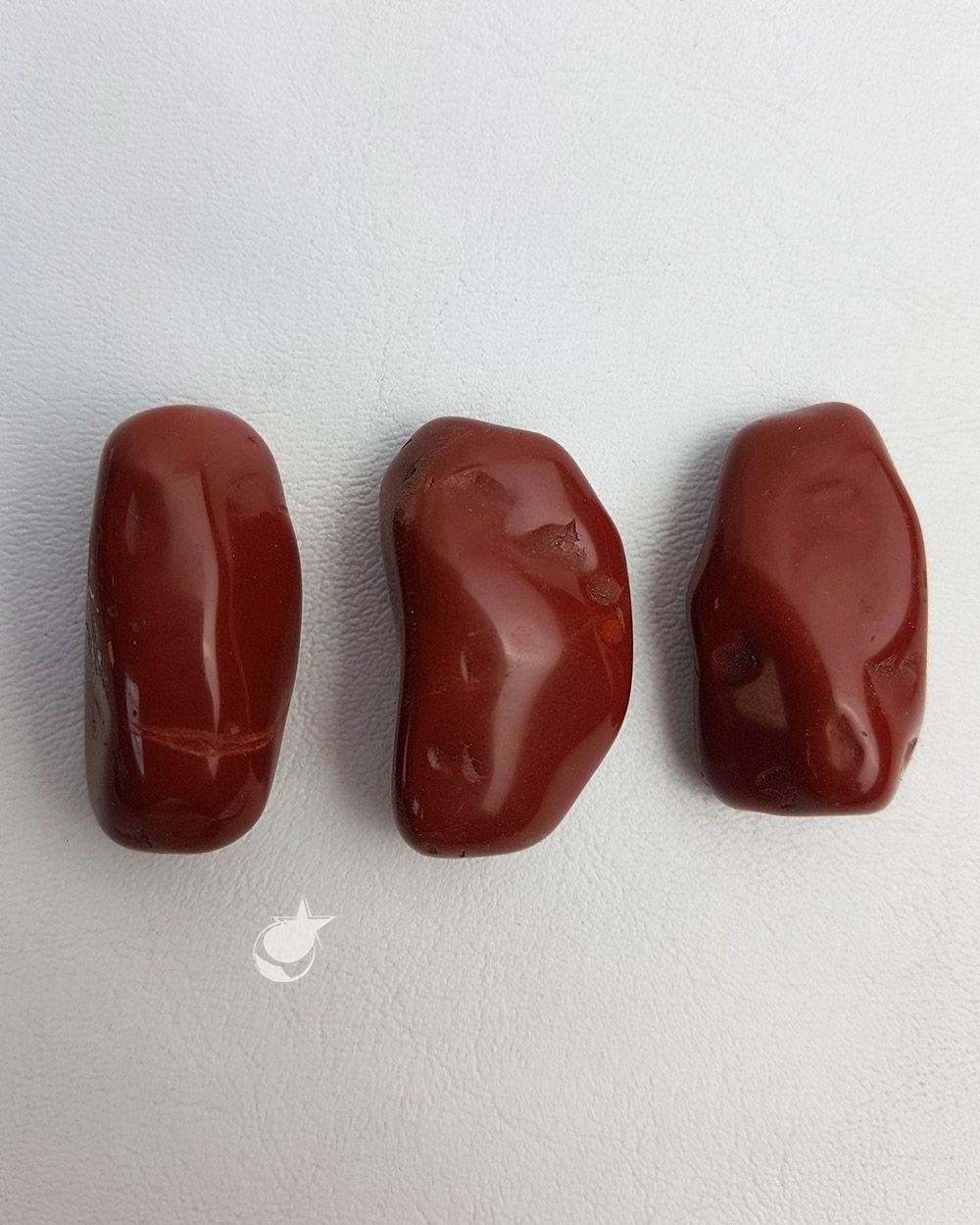 JASPE VERMELHO ROLADO -UNIDADE -  MÉDIA ENTRE 3 a 3,5 cm (20 a 25g)