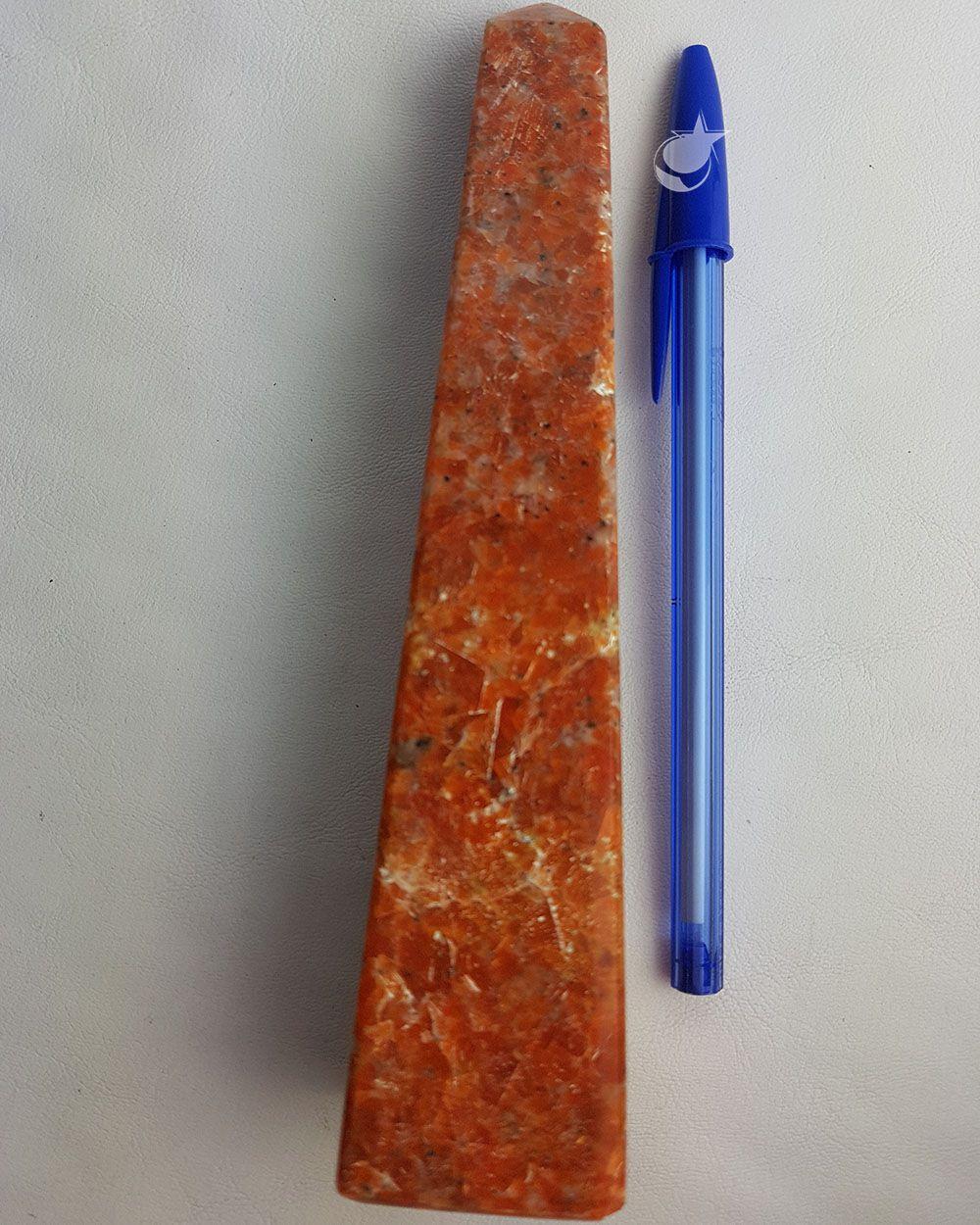 OBELISCO DE CALCITA LARANJA 17cm