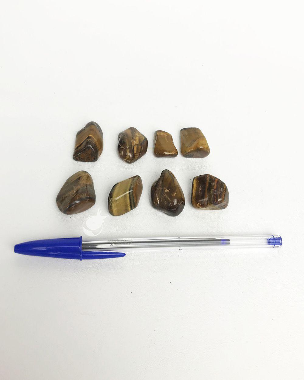 OLHO DE TIGRE ROLADO - Pacote com 4 pedras - Total 40 a 50g