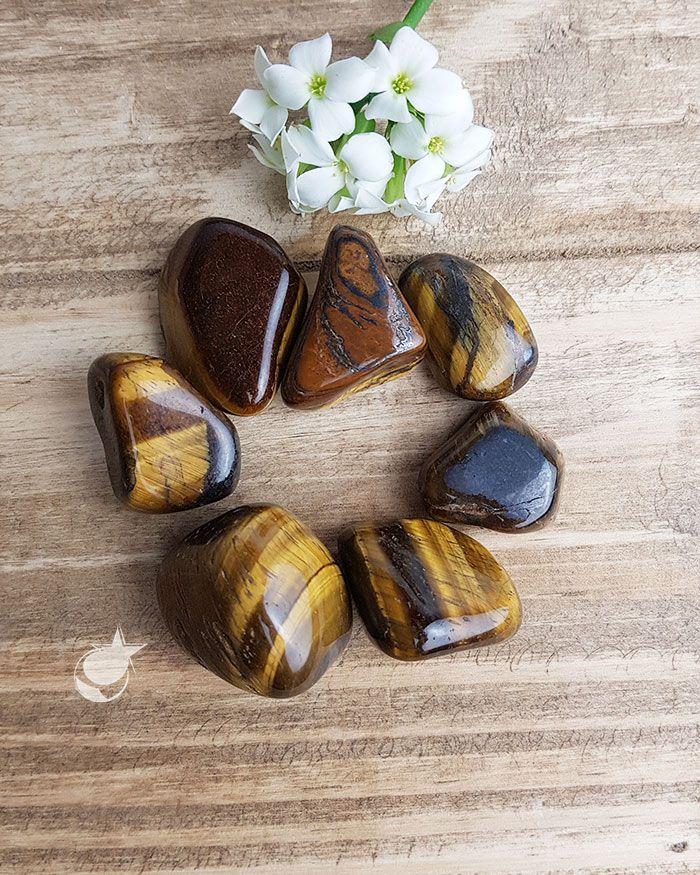 OLHO DE TIGRE ROLADO - Pacote com 7 pedras - Total 105 a 110g