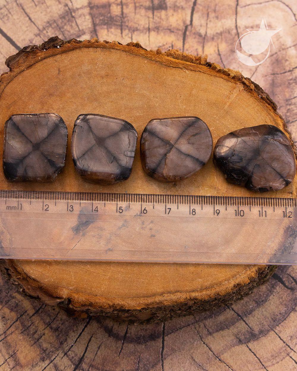 PEDRA DA CRUZ, QUIASTOLITA OU ANDALUZITA - UNIDADE - 2,5 a 3 cm