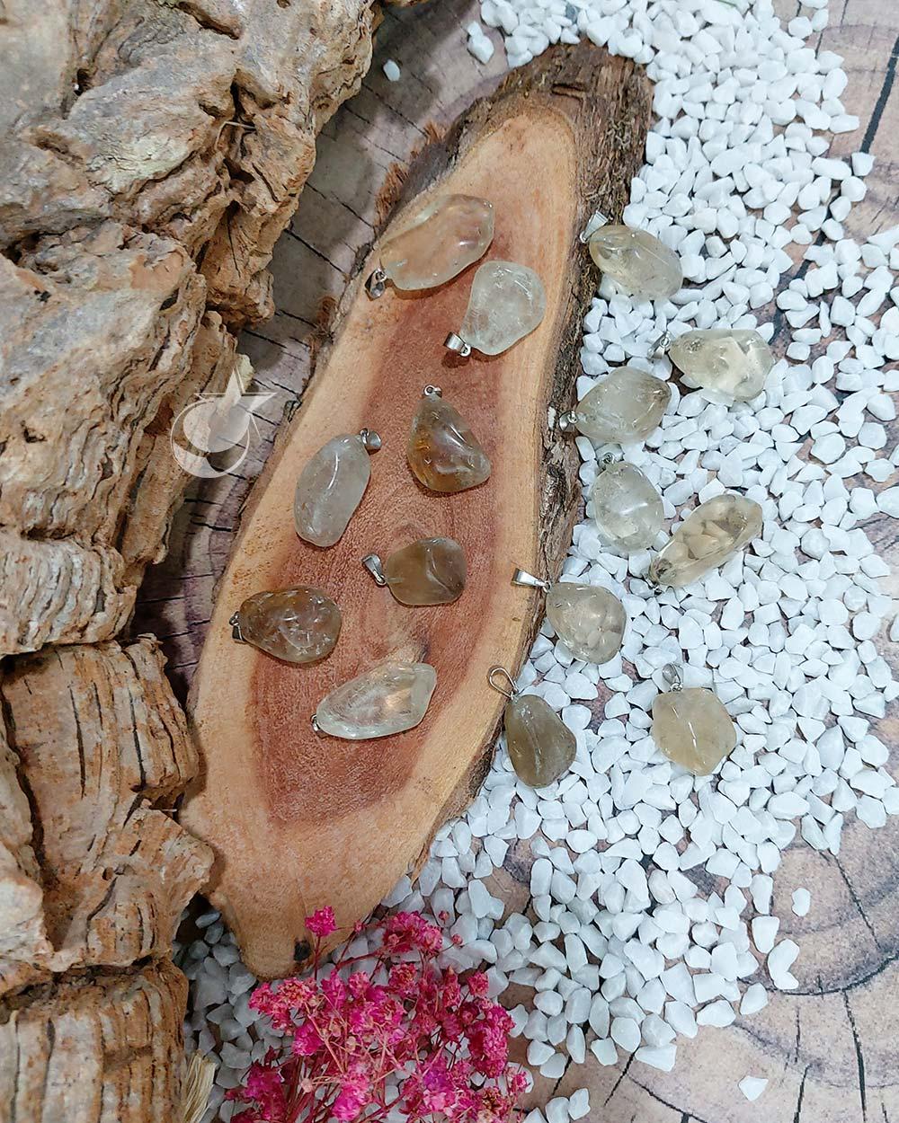 PINGENTE CITRINO NATURAL  - UNIDADE - 1,5 a 2 cm