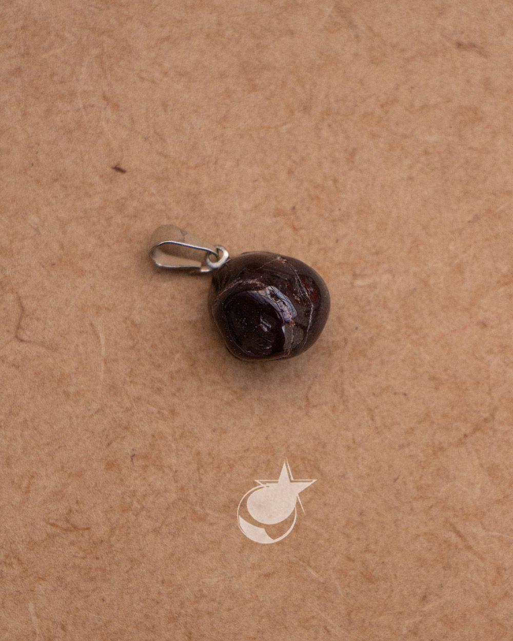 PINGENTE DE  GRANADA ROLADA - UNIDADE - média de 1 cm