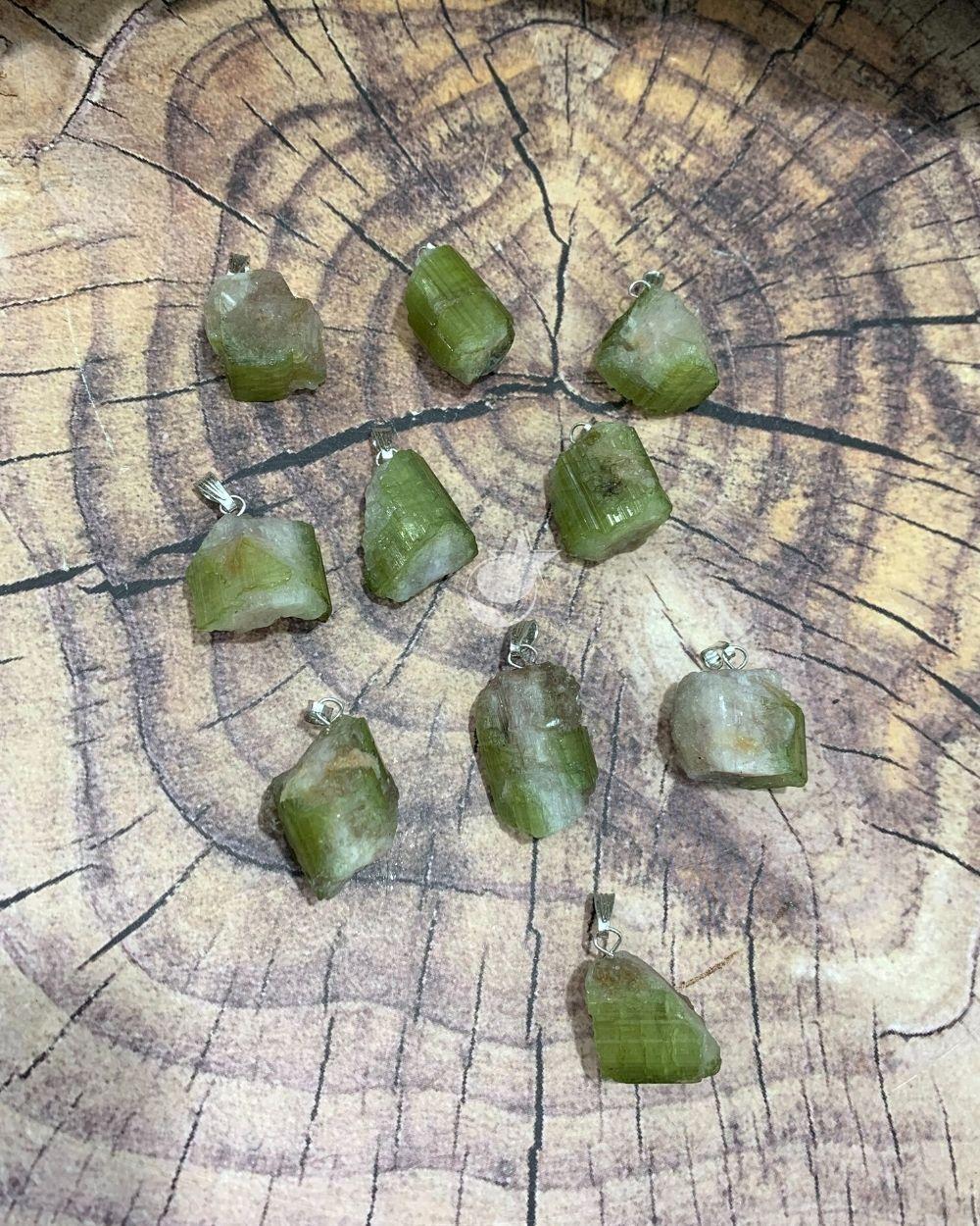 PINGENTE DE TURMALINA MELANCIA BRUTA - UNIDADE -  1,7 a 2,2 cm