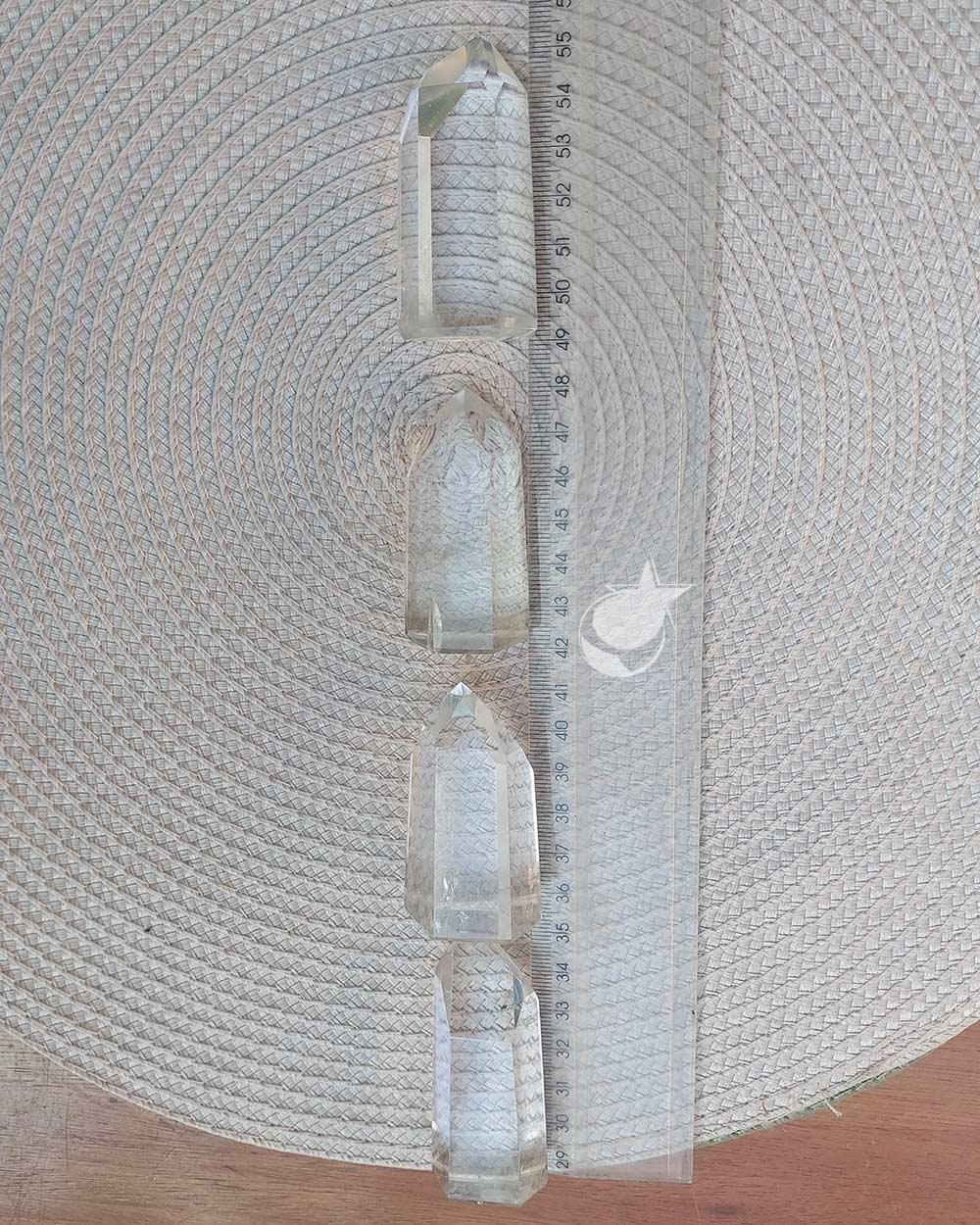 PONTA DE CRISTAL  - UNIDADE - 5 a 6 cm - (55 a 65g)