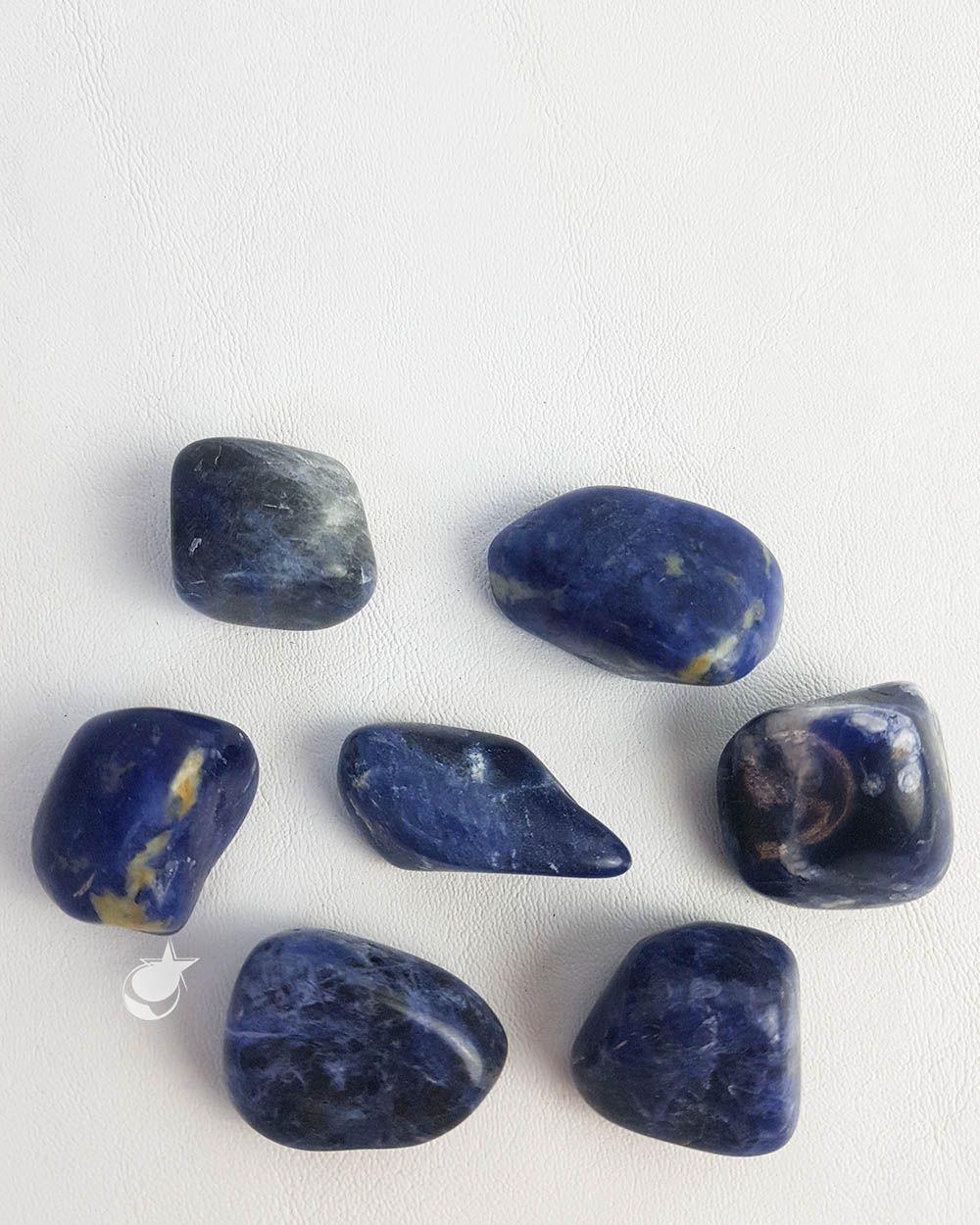 SODALITA ROLADA -  PACOTE COM 100g (7 a 9 pedras)