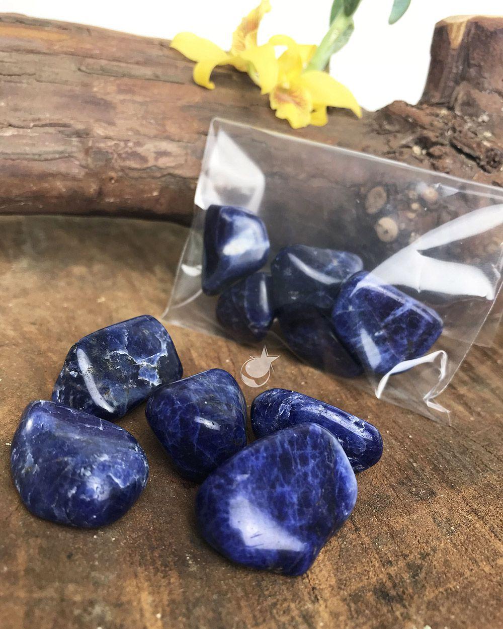 SODALITA ROLADA - Pacote com 5 pedras - Total 40 a 50g
