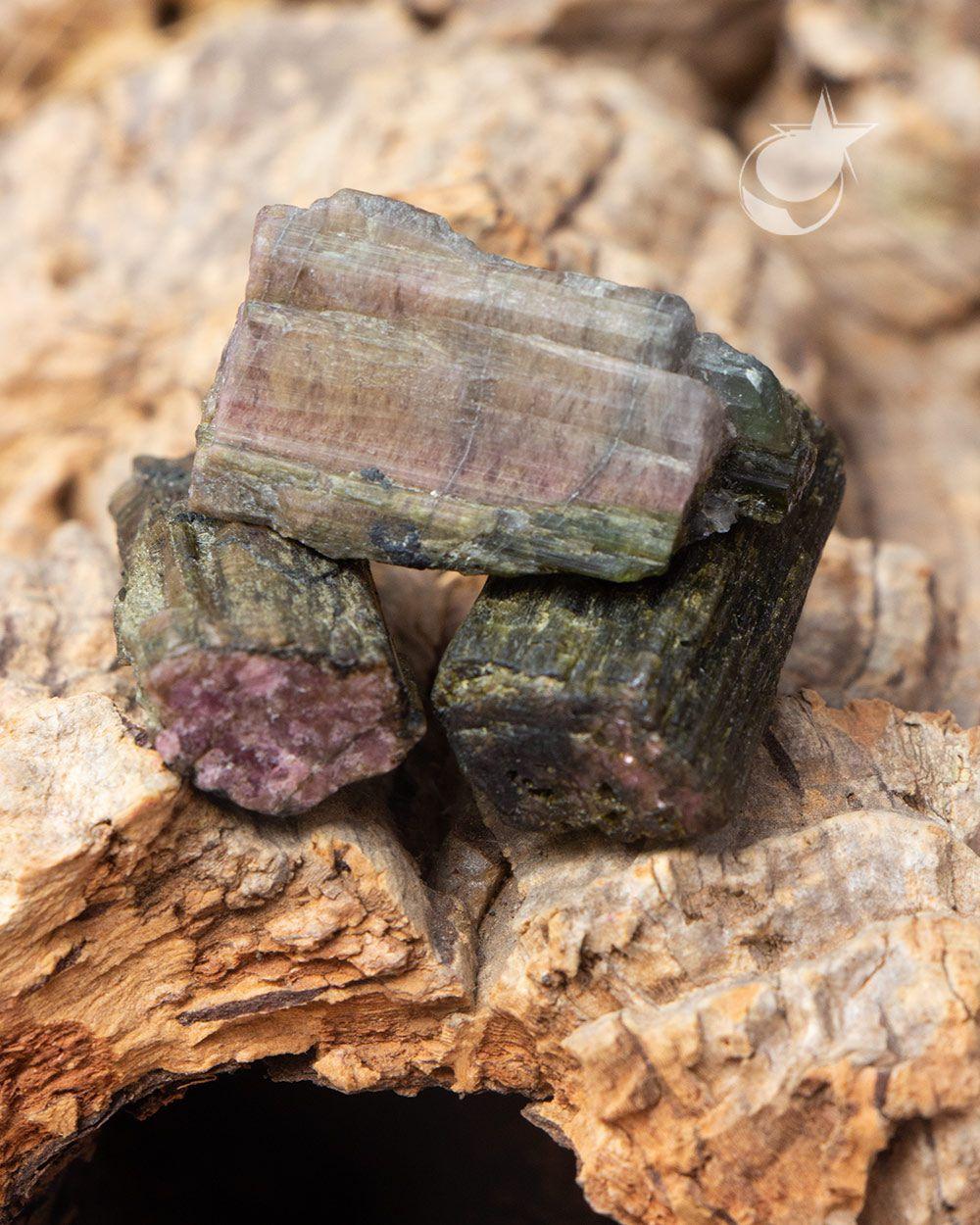 TURMALINA MELANCIA BRUTA - UNIDADE - 3,2 a 3,5 cm