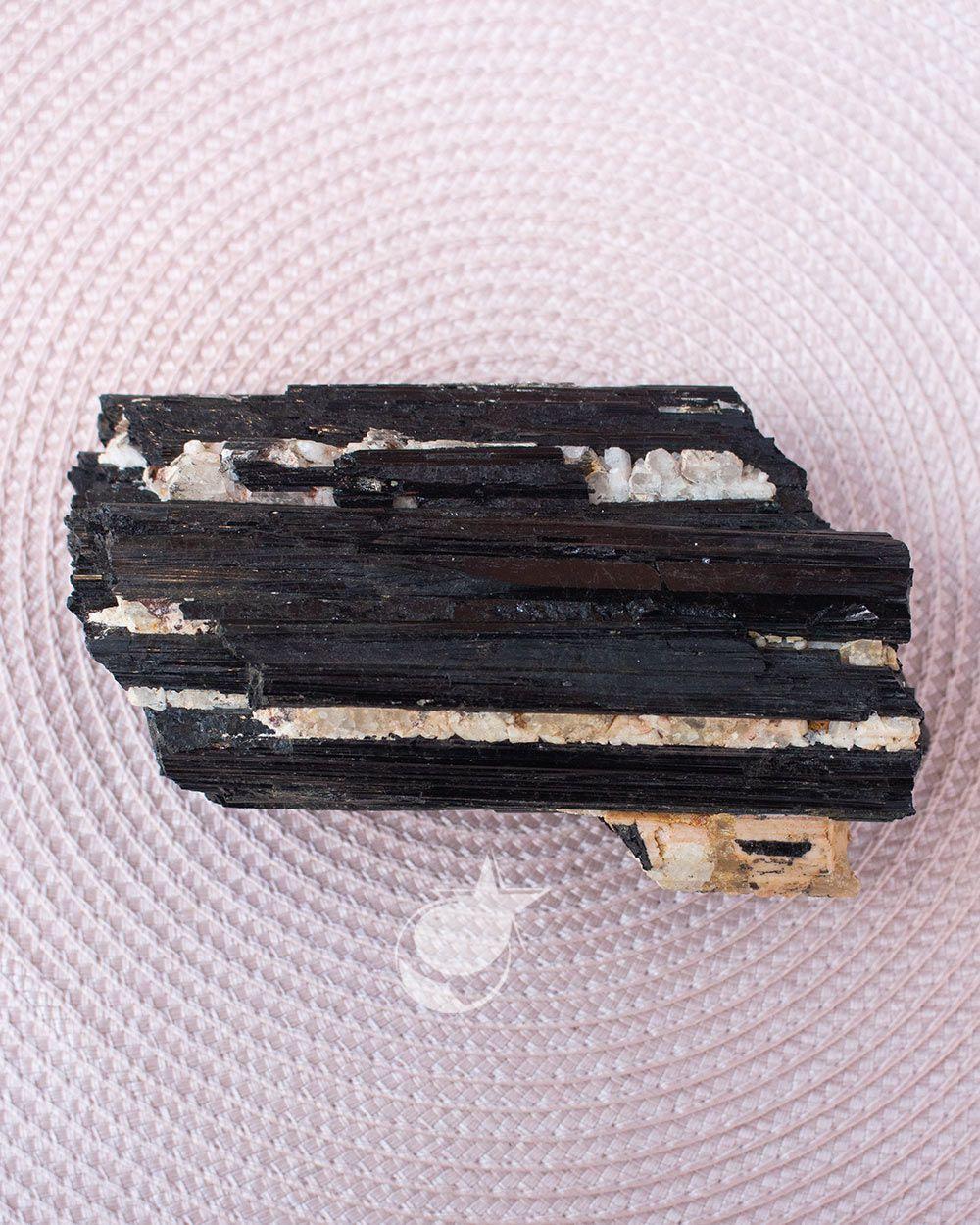 TURMALINA PRETA BRUTA -  15 cm -  (1.290g)