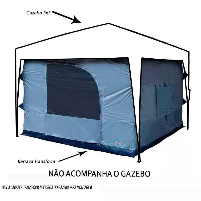 Barraca Ntk Para Gazebo Tenda Transform 5/6 Pessoas 3000mm