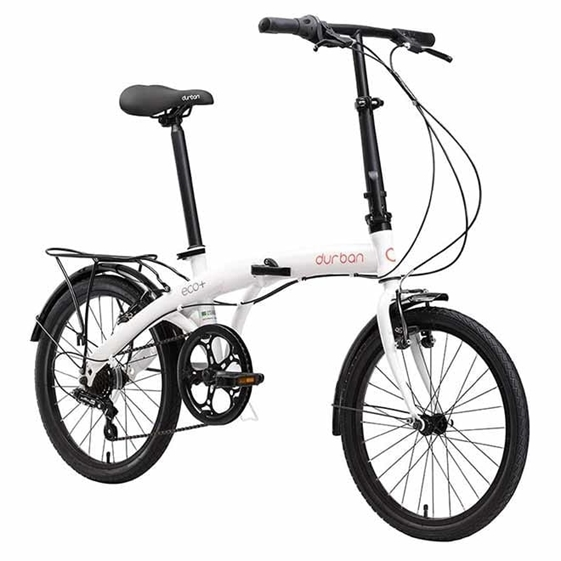 Bicicleta Dobrável Durban Eco+ Aro20 Freios V-brakes Branca