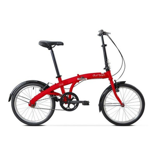 Bicicleta Dobrável Durban Eco Aro20 Freios V-brakes Vermelha