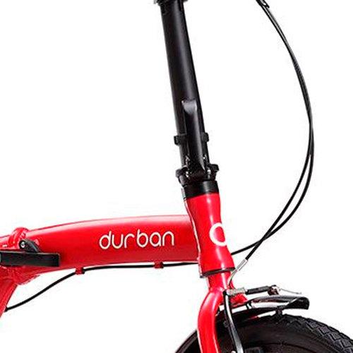 Bicicleta Dobrável Durban Eco Aro20 Freios V-brakes Vermelha  - Pesca Adventure