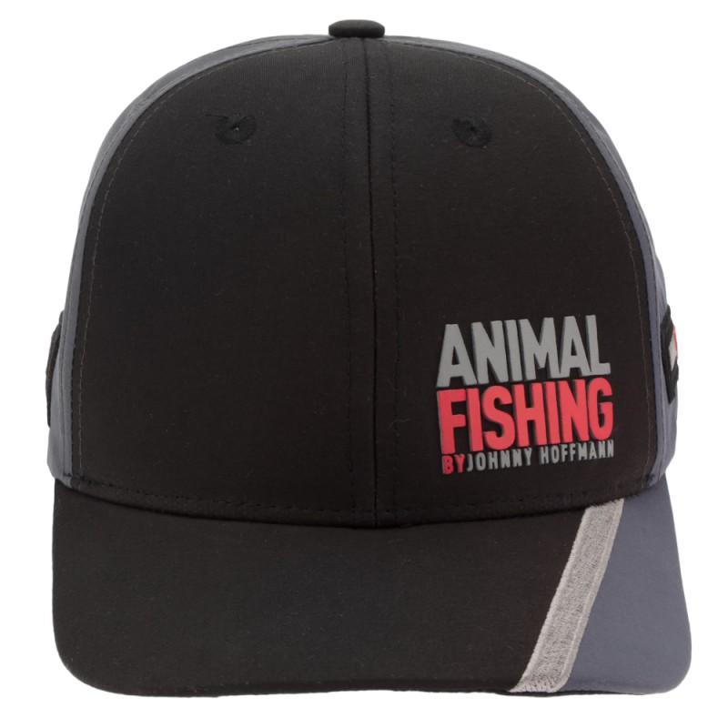 Boné Animal Fishing By Johnny Hoffmann - Preto E Cinza  - Pesca Adventure