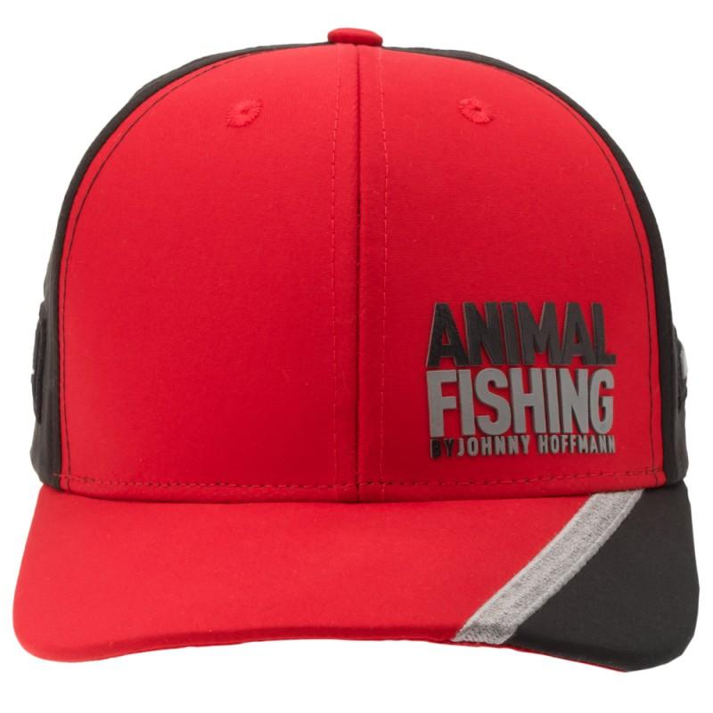 Boné Animal Fishing By Johnny Hoffmann - Vermelho E Preto  - Pesca Adventure