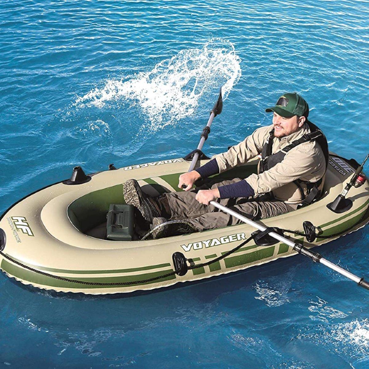 Bote inflável Para 2 Pessoas Bestway Voyager 300 Com Remos  - Pesca Adventure