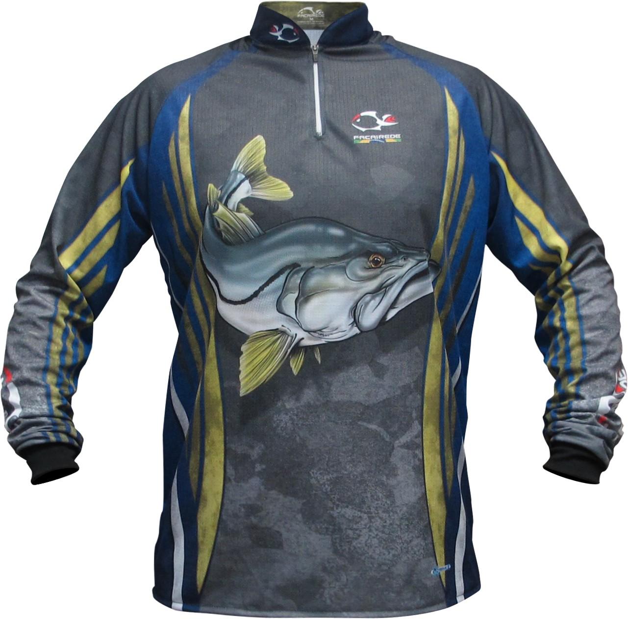 Camiseta De Pesca Faca na Rede Robalo Jersey NC 23