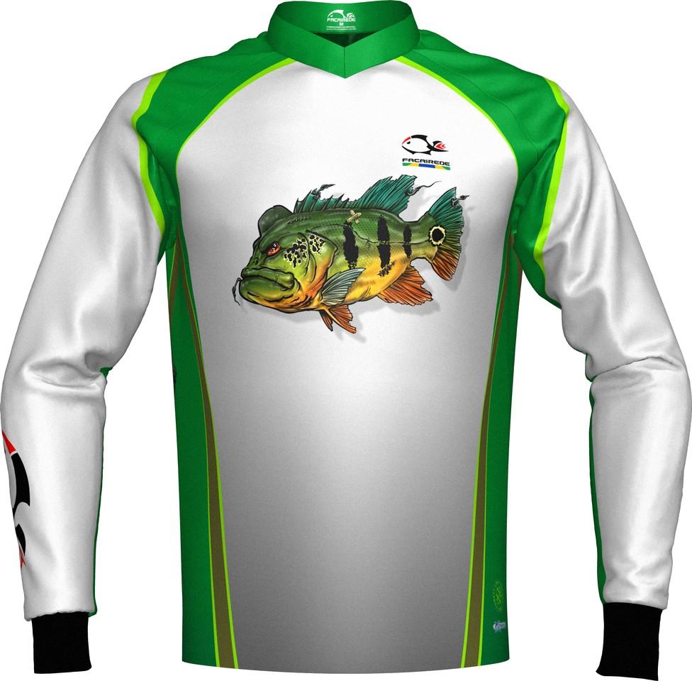Camiseta De Pesca Faca na Rede Combat Tucunaré