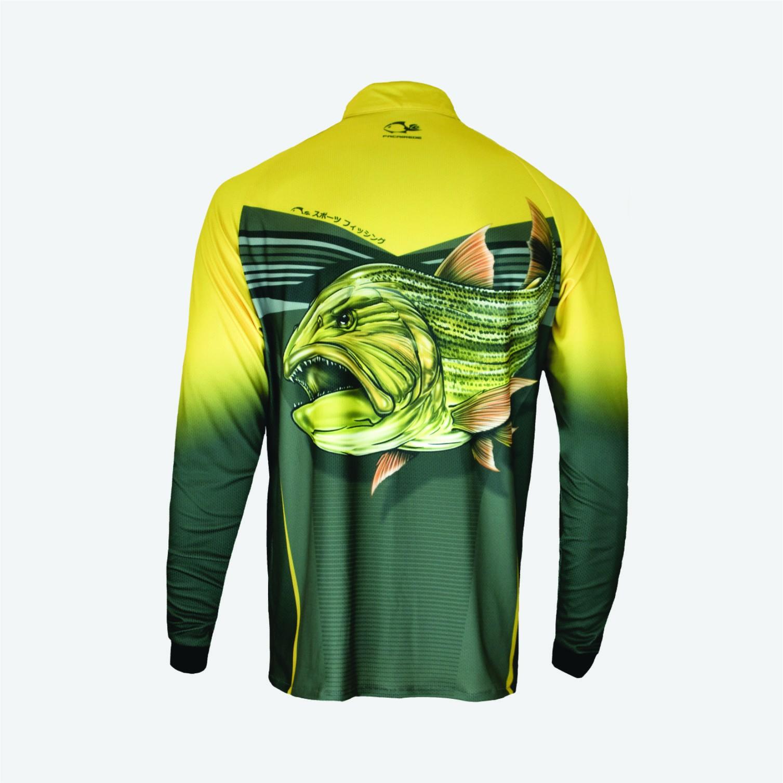 Camiseta Faca na Rede Evo Dourado Extreme Dry Coleção 2019/2020  - Pesca Adventure