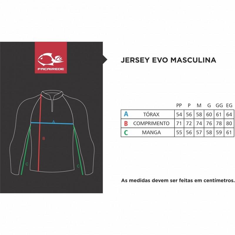 Camiseta Faca Na Rede Evo F-Move Sixx Extreme Dry Coleção 2019/2020  - Pesca Adventure
