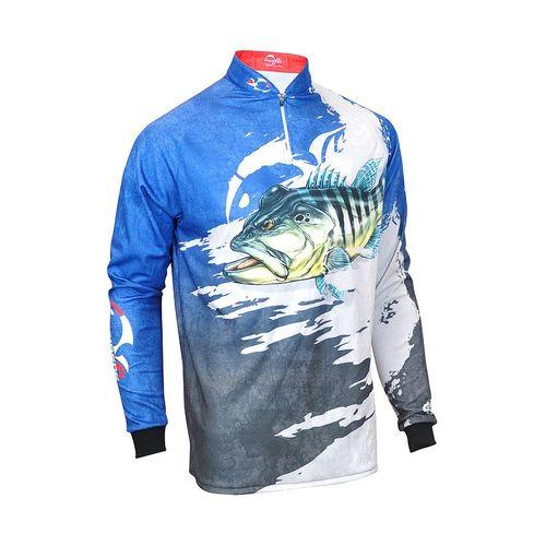 Camiseta Faca na Rede Evo Tucunaré Azul Extreme Dry 2018/2019