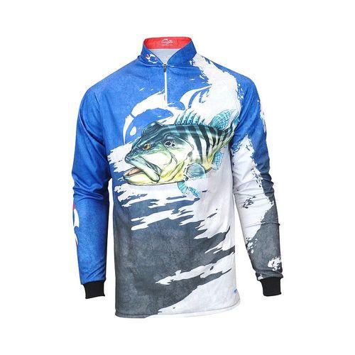 Camiseta Faca na Rede Evo Tucunaré Azul Extreme Dry 2018/2019  - Pesca Adventure