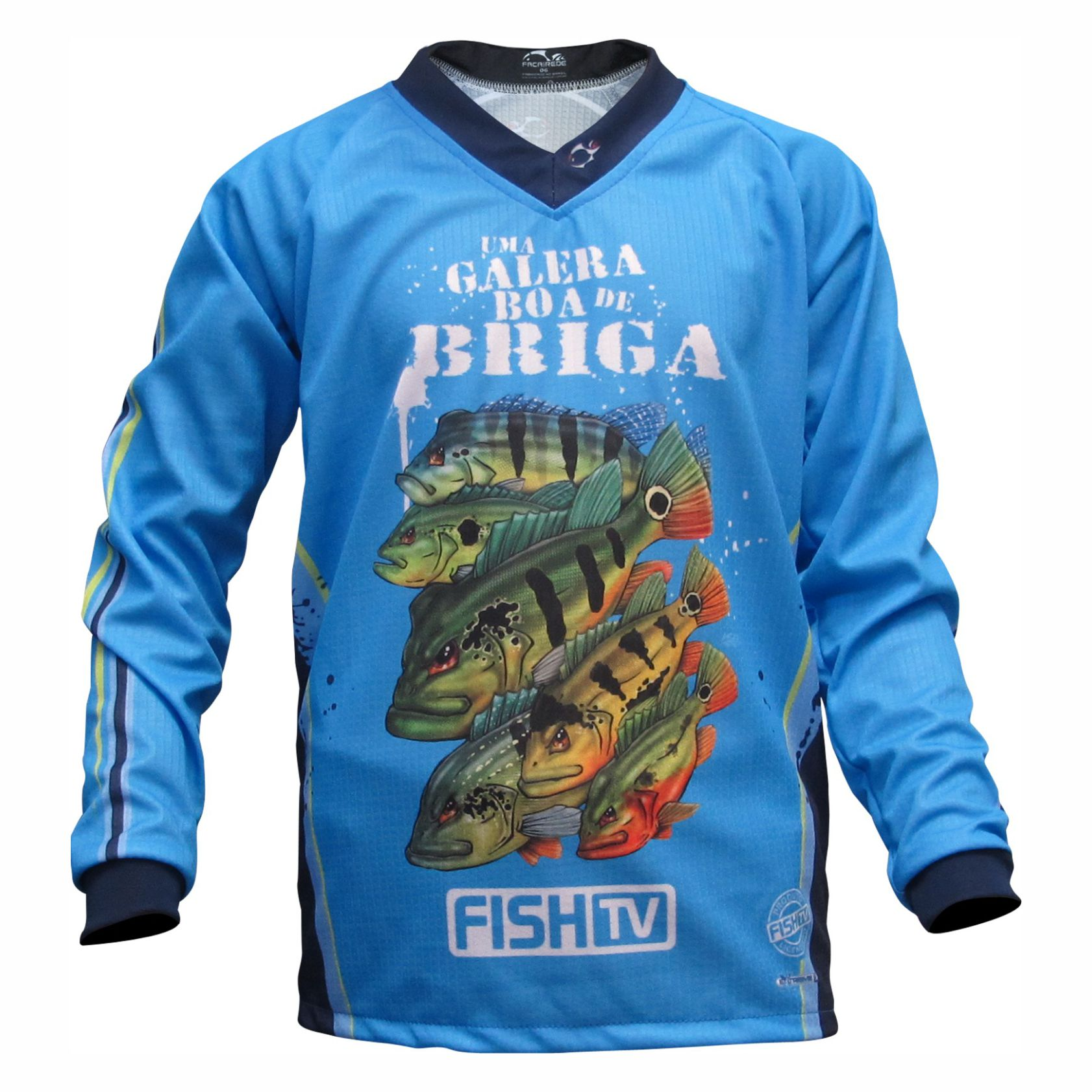 Camiseta Infantil Faca na Rede Tucunaré Kids Jersey LC 04