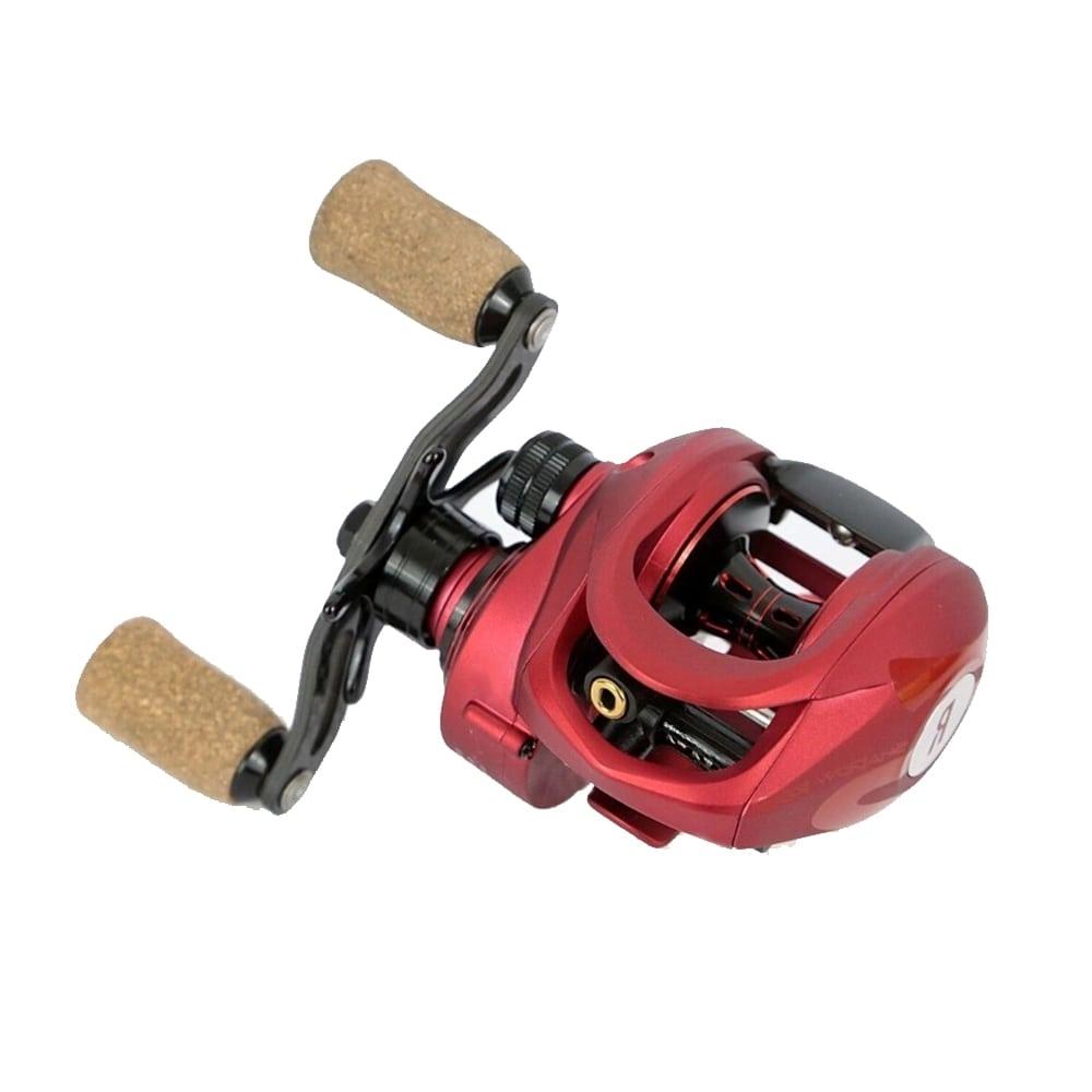 Carretilha Rapala Shadow Red Dir/esq Rec 8.1:1 Drag 5,4Kg  - Pesca Adventure