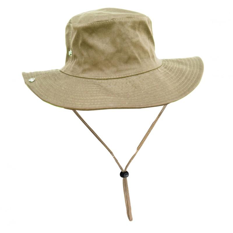 Chapéu Jogá Safari com Proteção Caqui  - Pesca Adventure