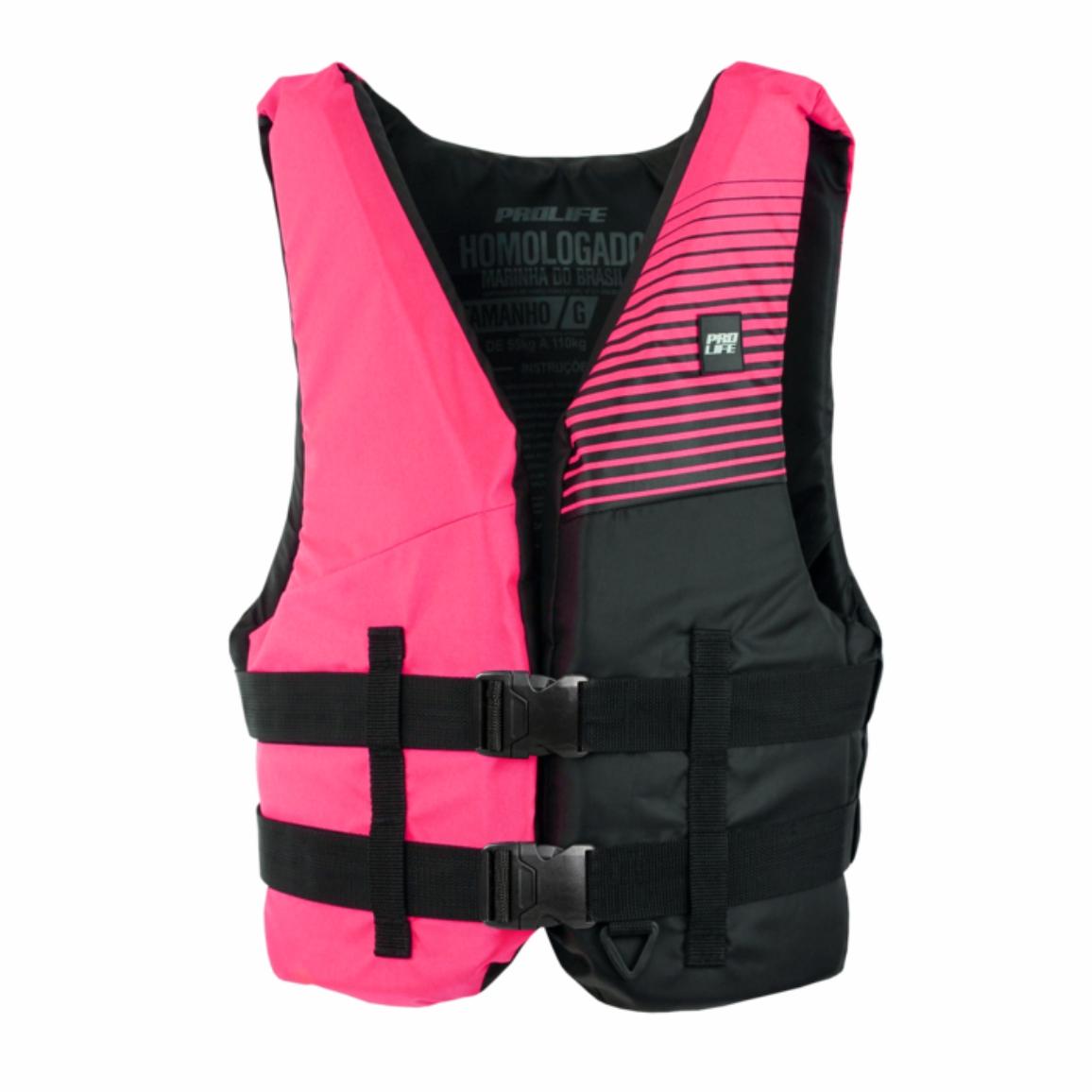 Colete Salva Vidas ProLife N1 Homologado Classe 5 Rosa  - Pesca Adventure