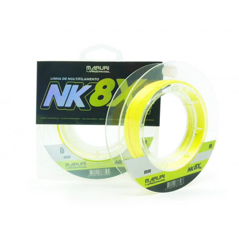 Linha Multifilamento Maruri By Nakamura NK 8X PE 0.50mm 68.2lb 200m
