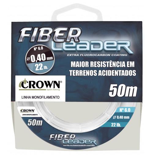 Linha Crown Fiber Leader Fluorocarbon 0,40mm 22lb 50m
