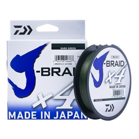 Linha Daiwa J-Braid x4 0.25mm 30lb 135m
