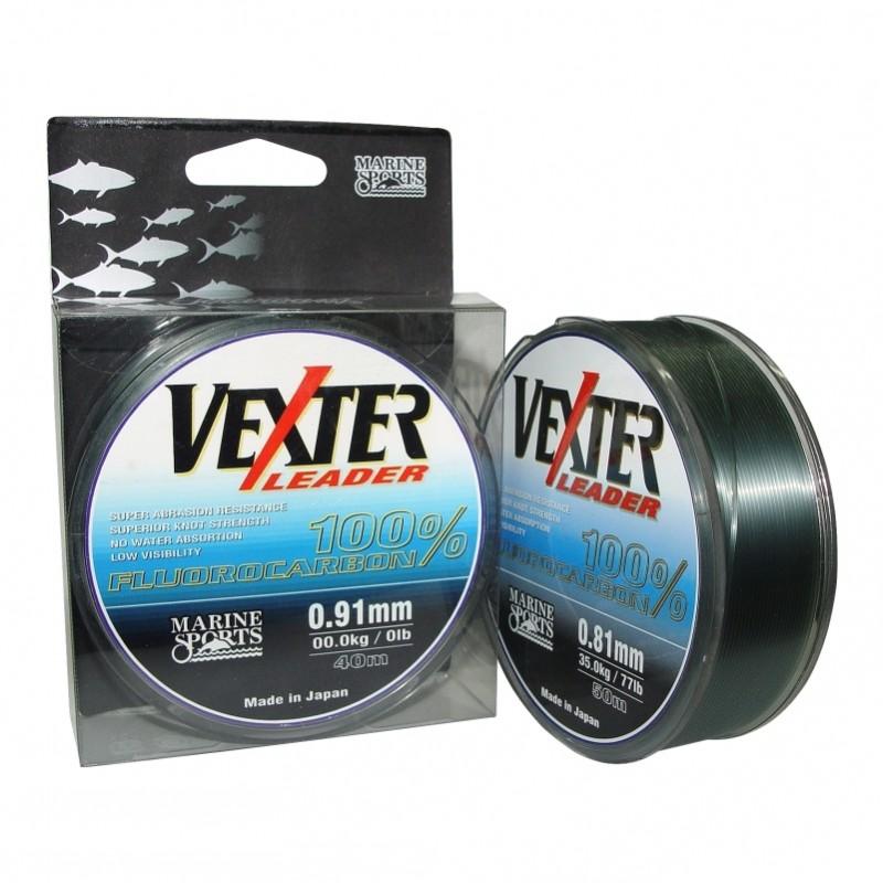 Linha Leader Fluorocarbon Marine Vexter 21lb 0.42mm 50m