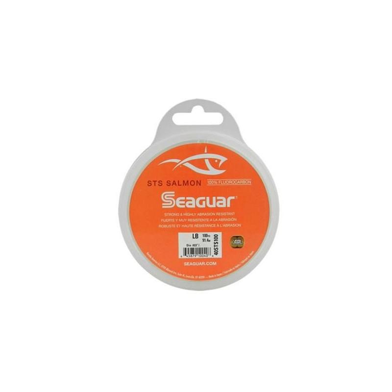 Linha Leader Fluorocarbon Seaguar STS Salmon 20lb 0.405mm 91.4m  - Pesca Adventure