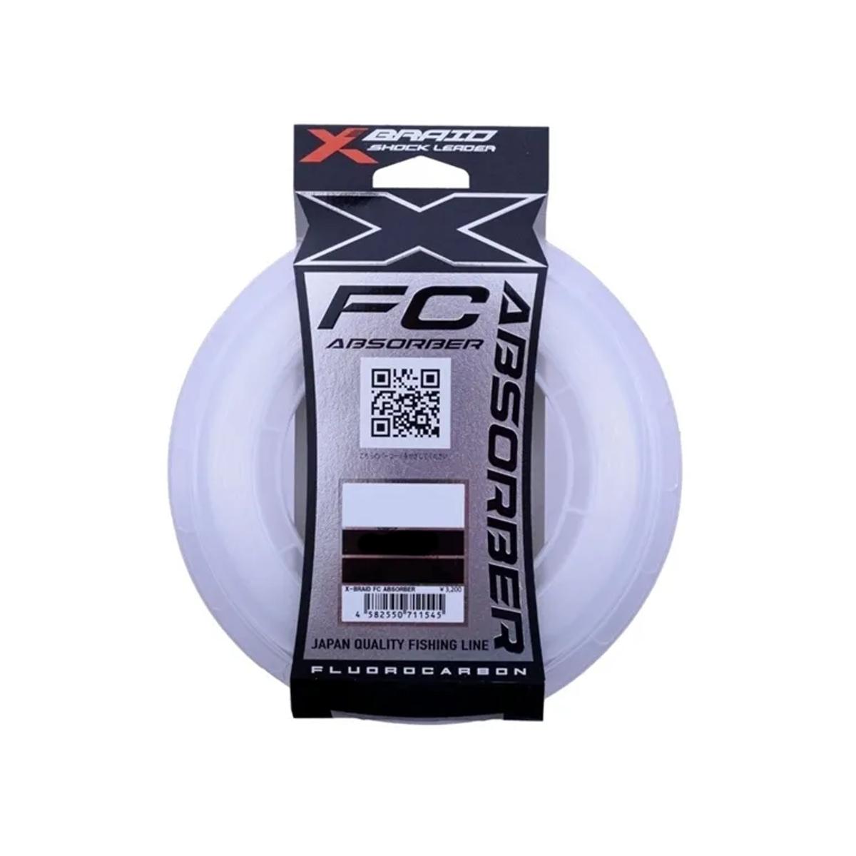 Linha Leader Ygk X-Braid Shock Leader FC absorber 50lb 0.65mm 60m