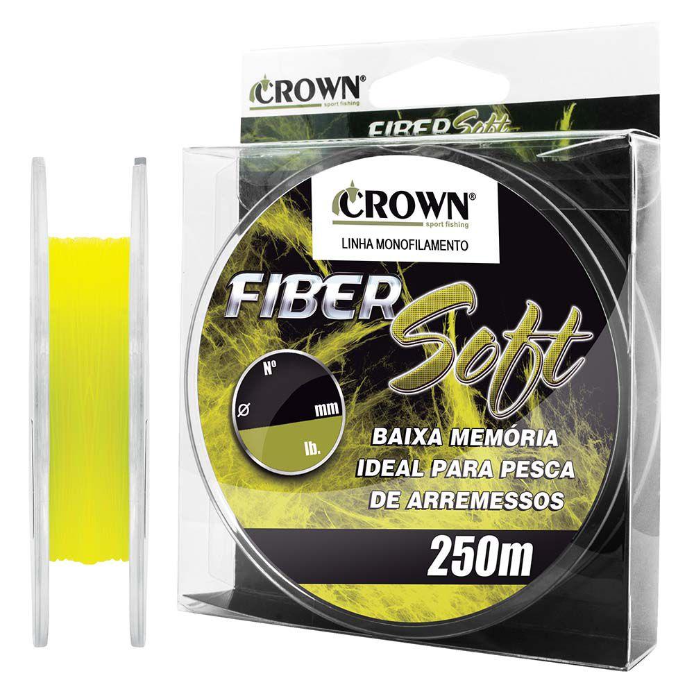 Linha Monofilamento Crown Fiber Soft 0.37mm 27lb 250m