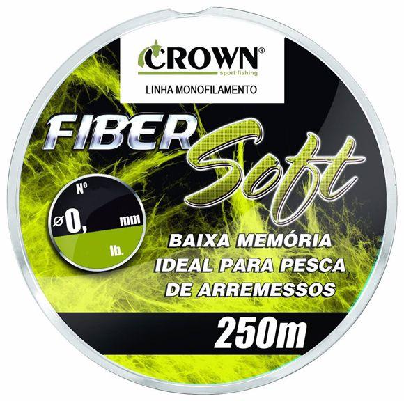 Linha Monofilamento Crown Fiber Soft 0.40mm 32lb 250m  - Pesca Adventure