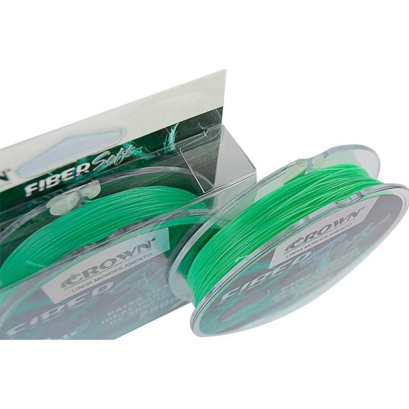 Linha Monofilamento Crown Fiber Soft 0.43mm 37lb 250m  - Pesca Adventure