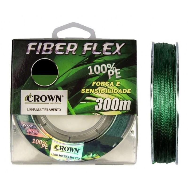 Linha Multifilamento Crown Fiber Flex 0.18mm 20lb 300m   - Pesca Adventure