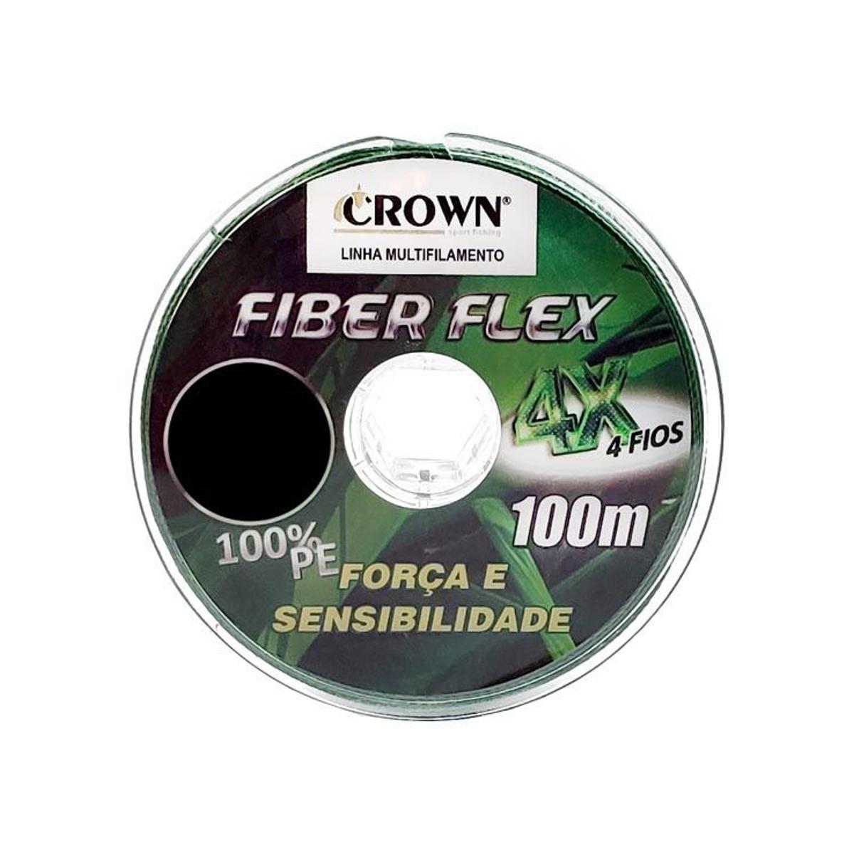 Linha Multifilamento Fiber Flex X4 0,33mm 60lb 100m  - Pesca Adventure