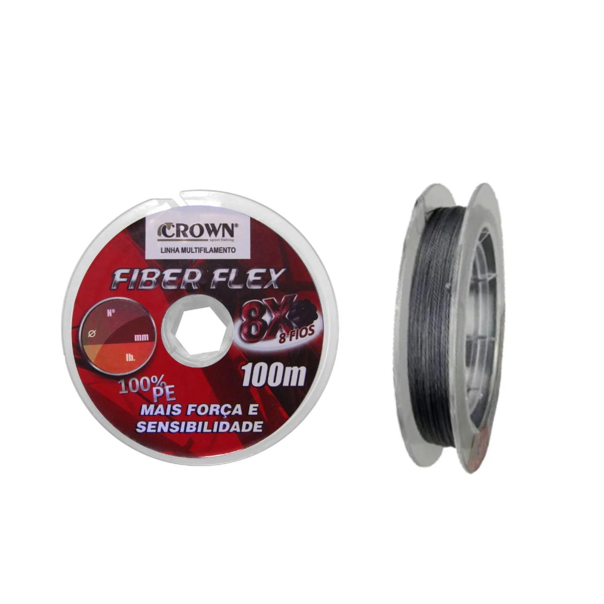 Linha Multifilamento Fiber Flex X8 0,20mm 28lb 100m  - Pesca Adventure