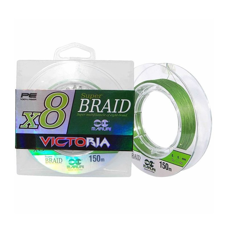 Linha Multifilamento Maruri Victoria Super Braid X8 0,40mm 55lb 150m  - Pesca Adventure