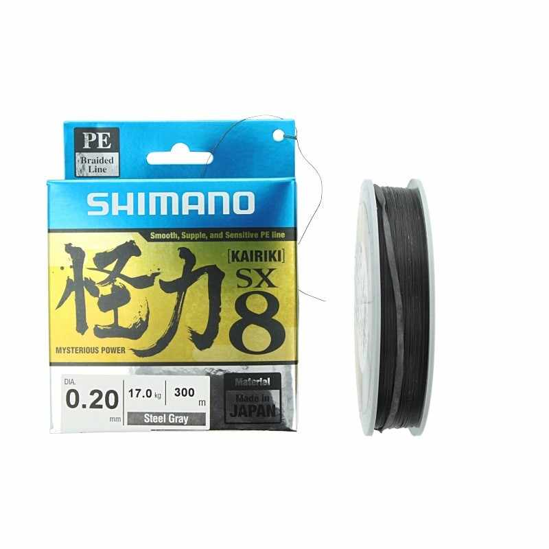 Linha Multifilamento Shimano Kairiki 0.28mm 40lb 300m Cinza  - Pesca Adventure