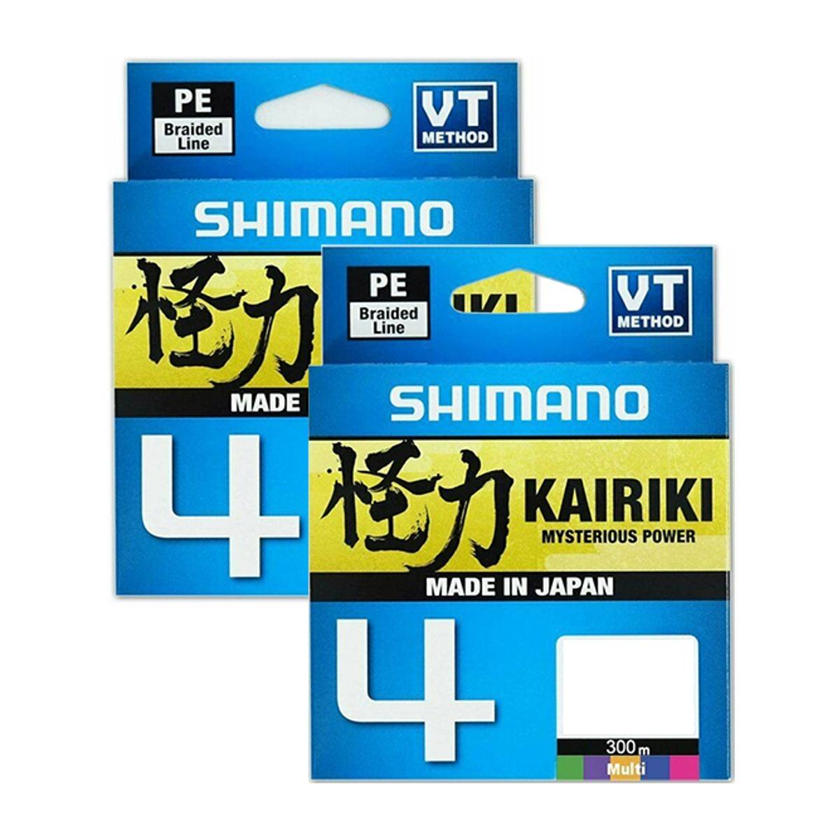 Linha Multifilamento Shimano Kairiki 4 - 25lb 0.21mm 300m Multicolor  - Pesca Adventure